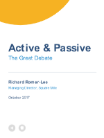 Active & Passive: the great debate