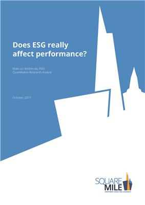 Does ESG really affect performance?