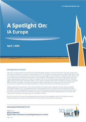 A Spotlight On: IA Europe